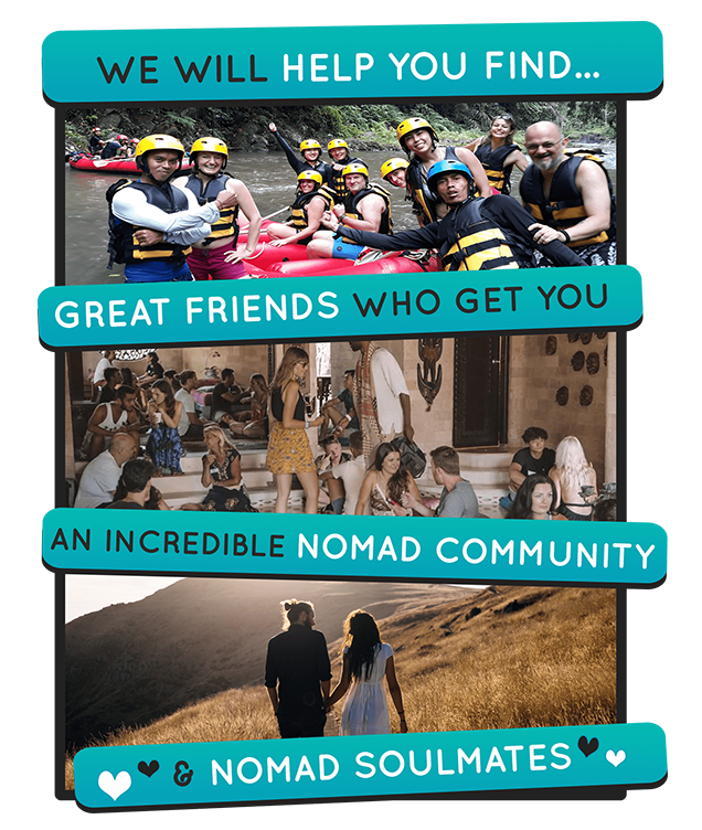 Nomad Soulmates Dating App, Nomad Community, Remote Workers, Location Independent People